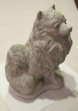 LARGE CONCRETE POMERANIAN STATUE OR USE AS A MEMORIAL, GRAVE MARKER