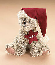 "Boyds Plush Bear w/Santa Cap ""Lil' Hope"" - NEW"