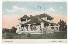 Weed Park Club House Muscatine Iowa 1908 postcard