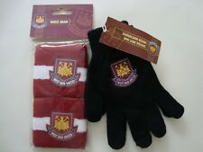 West Ham United Children's Knitted Gloves and Wrist Bands Set Official Licensed
