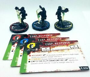 Loose Horrorclix The Lab Corp. Repsonse REV Set with Cards 034 035 036