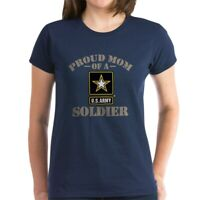 CafePress Proud U.S. Army Mom Women's Dark T Shirt Womens T-Shirt (1910976158)