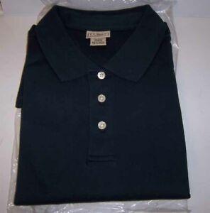 LL BEAN Mens Interlock Polo Short Sleeve Knit XL Dark Blue 100%Cotton *NWT* SALE