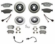 NEW Audi A6 A7 AWD Front and Rear Disc Brake Rotors with Pads Sensors and Shims