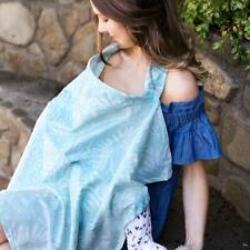 Bebe au Lait Premium Cotton Discreet Nursing Cover Blanket, Acapulco Mint Green