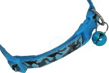 Blue Cat Collar Dog Small Puppy Kitten Adjustable Strap and Bell COL010