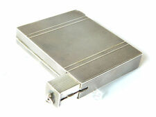 Art Deco Designer SILVER POWDER BOX w/ LIPSTICK HOLDER Compact S.G. Wien ca.1930