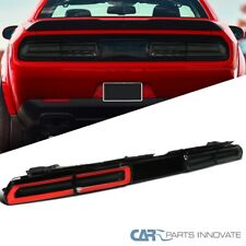 For 08-14 Dodge Challenger Smoke Rear LED Sequential Turn Signal Tail Lights