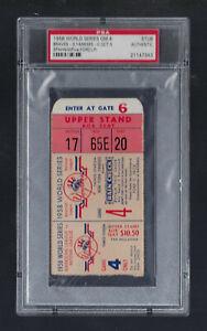 PSA - MICKEY MANTLE 1958 WORLD SERIES BRAVES @ YANKEES VINTAGE TICKET GAME #4