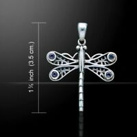 Libelle Anhänger Amethyst 925er Silber Symbol Schmuck - NEU