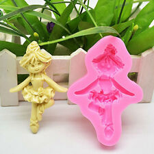 3D Fairy Angle Girl Silicone Fondant Sugar Paste Chocolate Mould Cake Mold