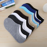 Women/Men Casual Cotton Boat Socks Non-Slip Invisible Low Cut No Show 1 Pair