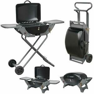 Grilltech Portable Wheeled BBQ Barbecue Folding Caravan Motorhome Camping LPG