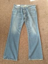 Abercrombie and Fitch Denim Jeans Waist 36 Inside Leg 32. Blue Distressed.