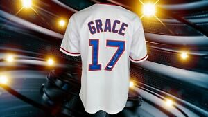 MARK GRACE AUTOGRAPHED CUSTOM CHICAGO CUBS WHITE JERSEY JSA  AUTHENTICATED