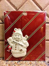Lenox Christmas Ornament For a Special Teacher with Macy'S Tag New