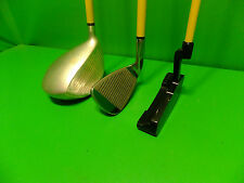 3 Momentus Golf Clubs! 44 oz Driver- 40oz Iron- 30oz Putter- Golf Training Aids