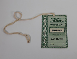 1988 Democratic National Convention signed autographed pass Guaranteed Authentic