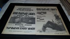 God Forgives...I Don't Rare Original 1968 Promo Poster Ad Framed!