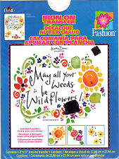 "1999 Plaid Fashion Iron-On Transfer # 58204 ""Wildflowers"" Create Your Own Design"