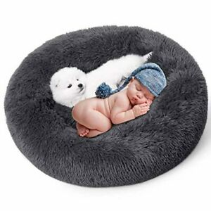 Doggy Mayhem Donut Dog Bed – Super Soft and Cosy Pet Bed for Dogs and Cats –