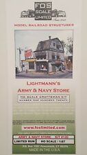 FOS SCALE - Lightmann's Army Navy - BRAND NEW OOP & RARE!! Sought After FSM KIT!