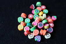 Polymer clay fruit beads - jewellery making - childrens jewellery- novelty beads