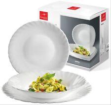 Bormioli Rocco Prima 18 Pcs Dinner Service Set Opal Glass Tableware Dining Plate
