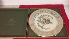 """Vintage 1973 Lenox Meadowlark Porcelain 10.5"""" Collectors Plate W'Box Ed Boehm"""