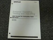 Caterpillar Cat 3054 Engine System Op Testing & Adjusting Service Repair Manual