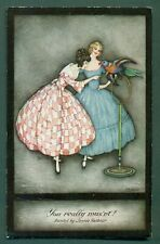 More details for art deco,tuck 3803 you really mus'nt by jennie harbour,vintage postcard