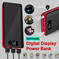 External 300000mAh Dual USB Power Bank Portable Charger For All Mobile Phone UK