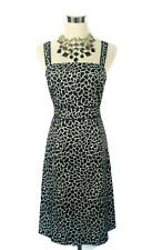 DIANA FERRARI Dress - Vintage Style Pencil Wiggle Black White Print Stretch - 10