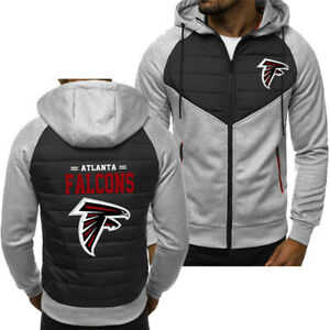 New Atlanta Falcons Hoodie Classic Autumn Hooded Sweatshirt Jacket Coat Top Tops