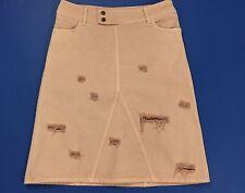 Anna Rita gonna jeans minigonna w30 44 salmone strappi usato donna rosa T1723