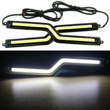 DRL COB Car LED 18CM X 2 Bright Cold White Light Bar Fog Lights Z Shape