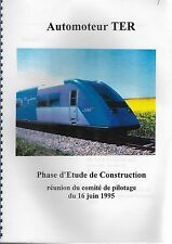NOTICE SNCF -  AUTOMOTEUR TER - PHASE ETUDE DE CONSTRUCTION
