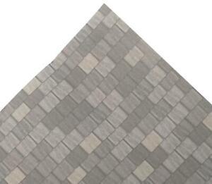Dolls House Grey Roof Tile Sheet Miniature Print Exterior Wallpaper Long
