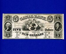 1800's $5 Canal Bank New Orleans GEORGE WASHINGTON CRISP GEM UNC NOTE