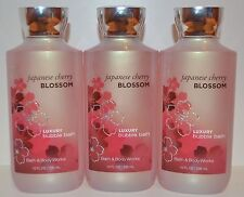 LOT OF 3 BATH & BODY WORKS JAPANESE CHERRY BLOSSOM LUXURY BUBBLE BATH FOAM WASH