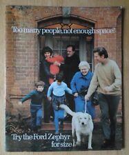 FORD ZEPHYR M44 Range orig 1971 UK Mkt Sales Brochure + spec sheet - V6