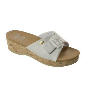 Scholl Wappy Memory Cushion Sandals - White