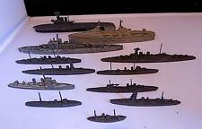 Vintage Lead + Diecast Warships x 12 Inc HMS Hood, York by Chad Valley & Others