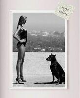 Fashion Designer art print home decor black & white photography beauty classy