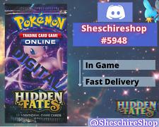 Hidden Fates x 50 Pokemon In-Game Booster Send Fast TCGO PTCGO Online Code