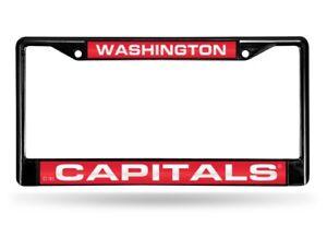 Washington Capitals NHL Black Metal Laser Cut License Plate Frame