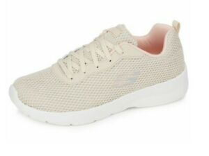 Skechers Dynamight 2.0 Quick Concept Lace Up Trainers, NATURAL, 6.5, BNWT