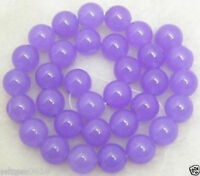8mm Purple Alexandrite Round Gemstone Loose Beads 15''