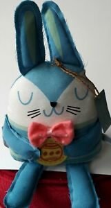 Hallmark Inspirations Easter Plush Bunny Shelf Sitter With Egg Easter Decor