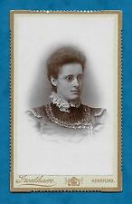 C1870'S CDV OF LADY IN SPECTACLES - GREETHAM OF HEREFORD PHOTOGRAPHER